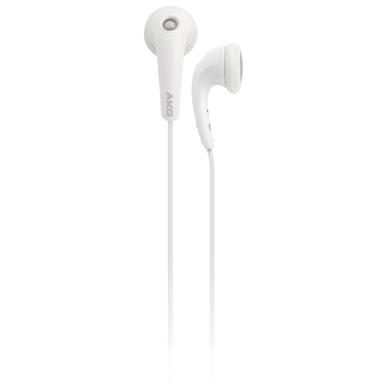 Y 15 - White - Lightweight in-ear headphones with volume control - Front
