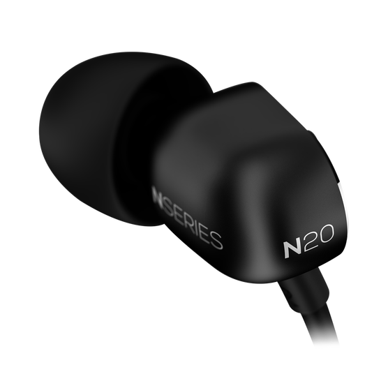 N20U - Black - Reference class in-ear headphones with universal 3 button remote. - Detailshot 5