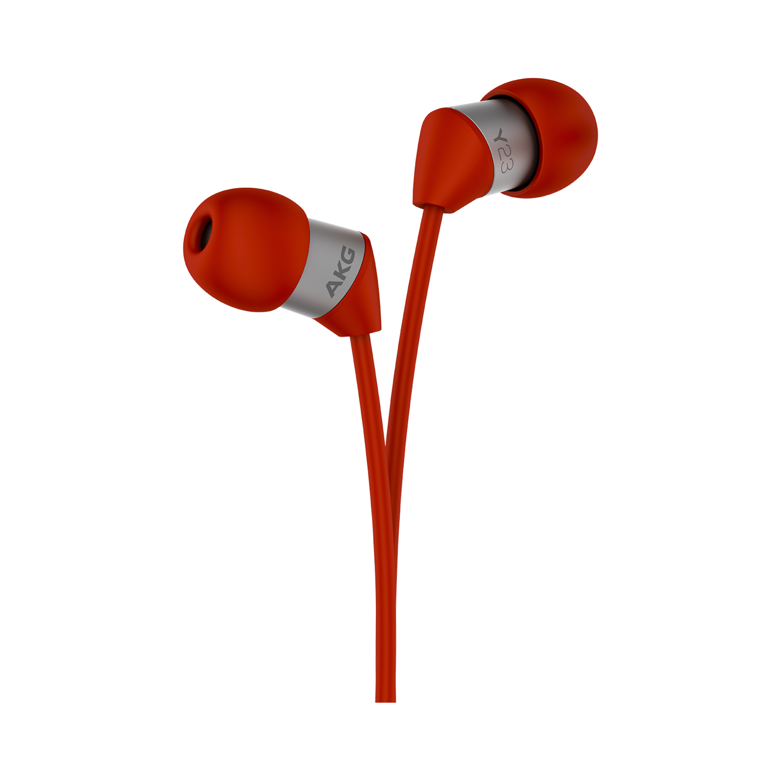 Y23U - Red - The smallest in-ear headphones with universal remote and microphone - Detailshot 1